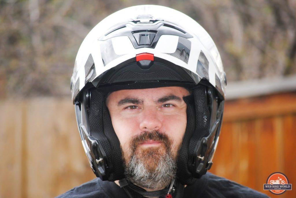 Bell SRT Modular Helmet visor up