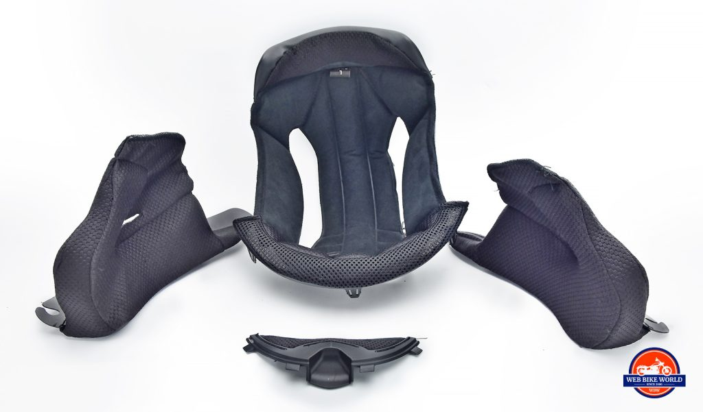 Bell SRT Helmet interior padding.