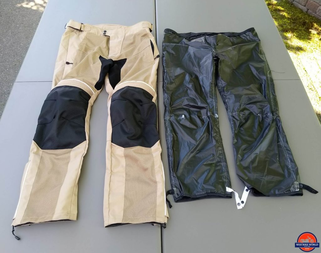 Motonation Cappra Vented Textil Pants - waterproof & windproof liner next to shell