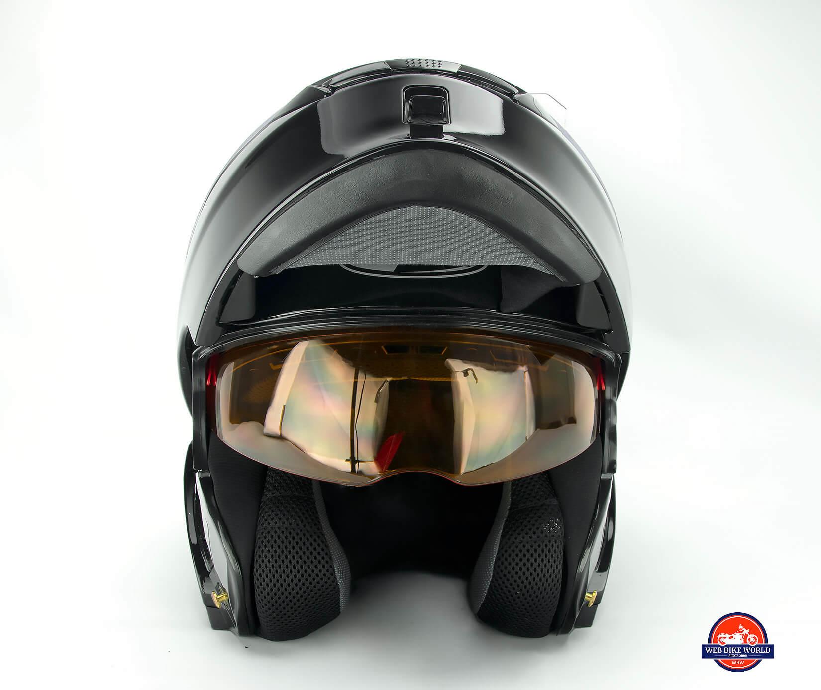 GMax MD01 helmet integrated sun visor lens.
