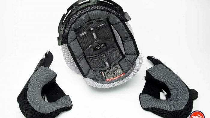 GMax MD01 helmet liner and cheek pads.
