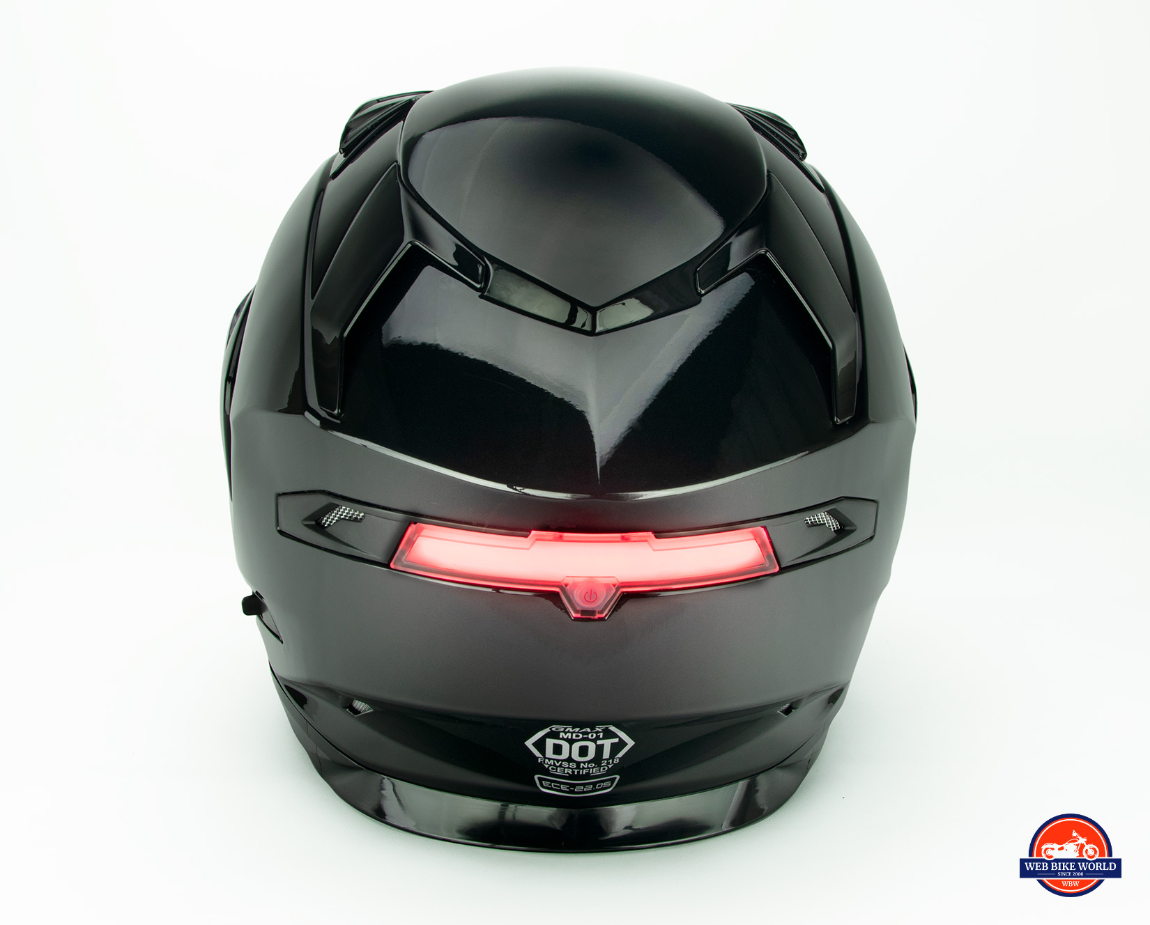 GMax MD01 helmet rear LED light.