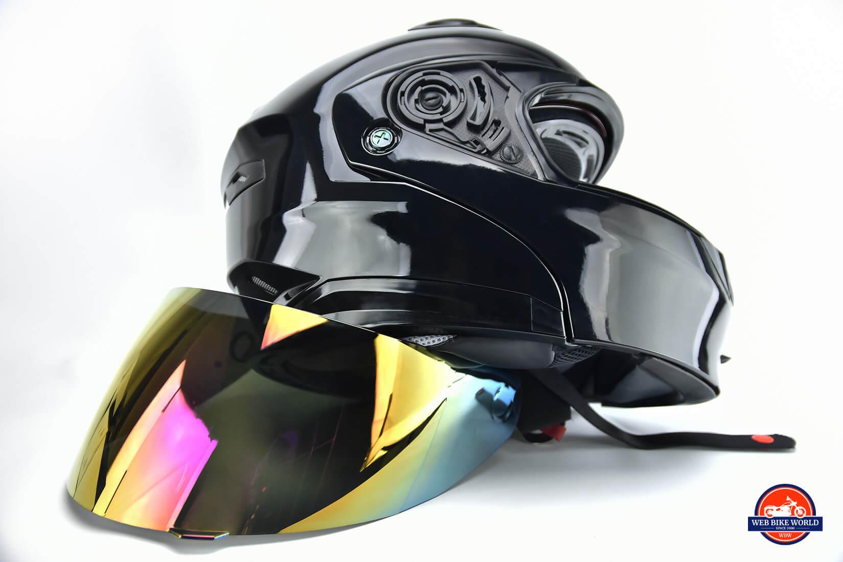 GMax MD01 helmet and iridium visor.