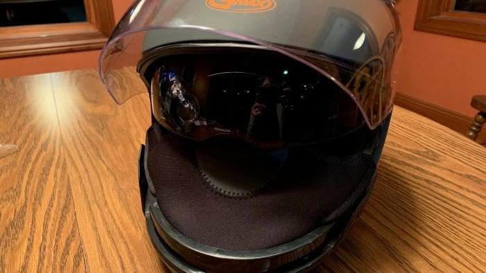 GMAX OF77 Helmet Visor Up