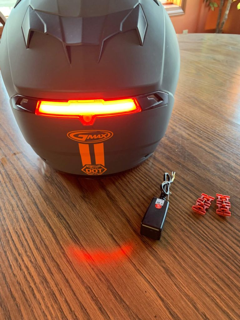 GMAX OF77 Helmet Prewired Brake Light Installation