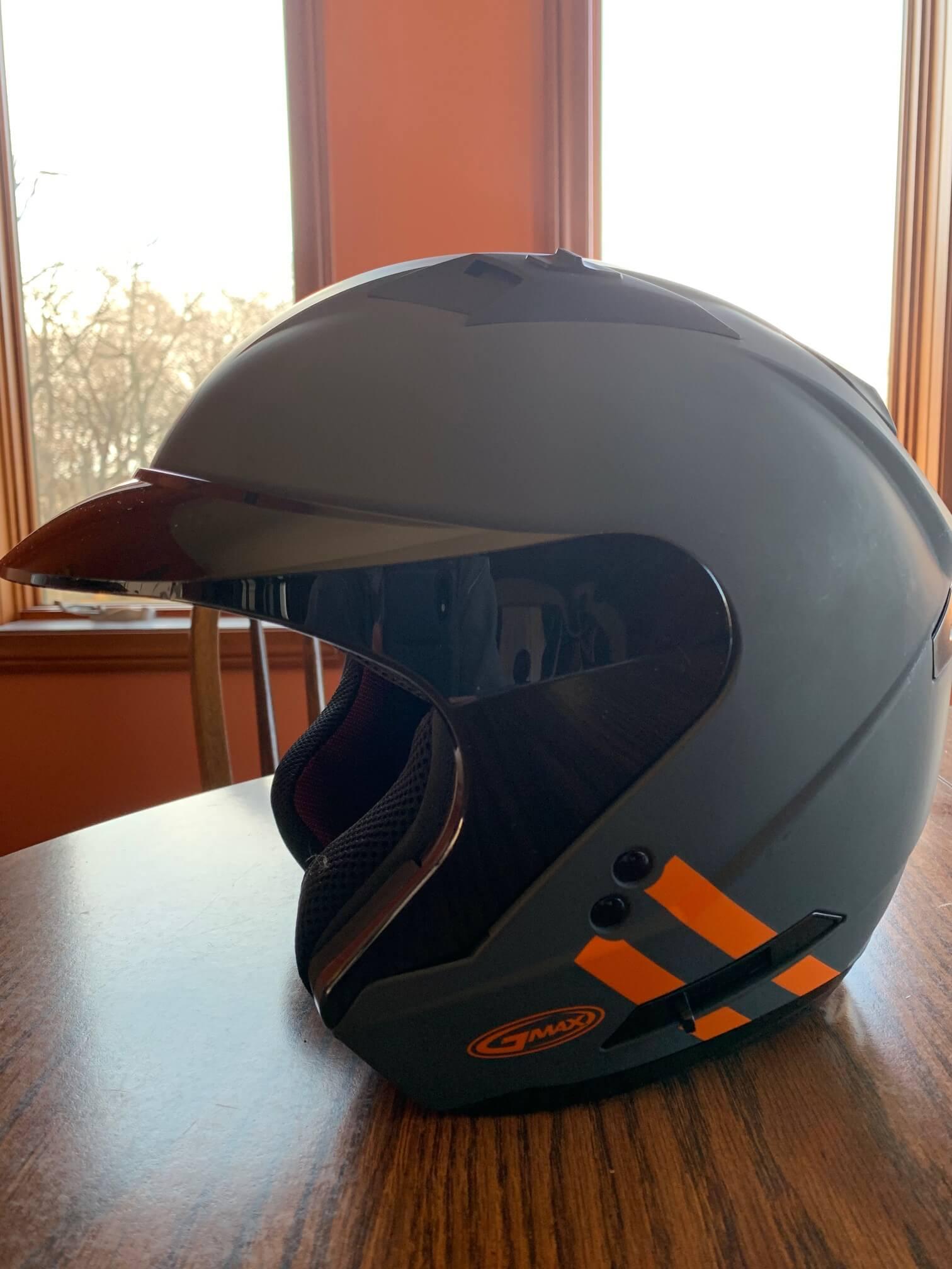 GMax OF-77 Open-Face Helmet Black