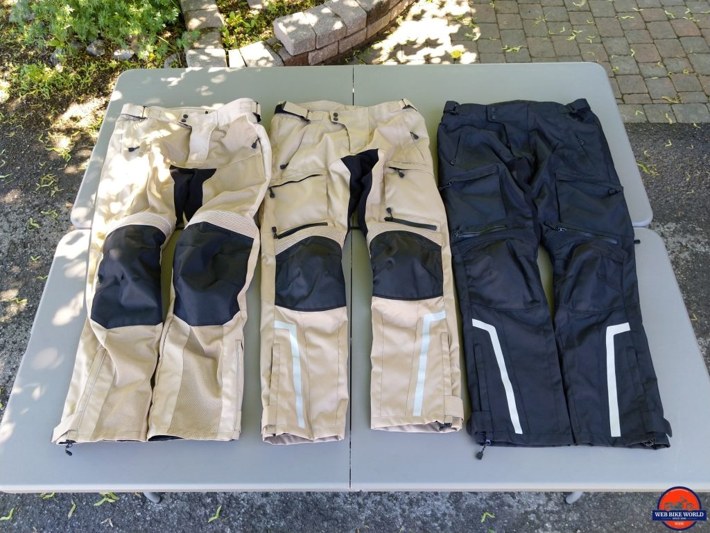 Cappra Vented Textile Pants and Phantom Textile Adventure Pants in 2XL & 3XL