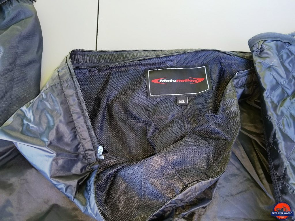 Phantom Textile Adventure Pants rain liner with mesh-wicking interior