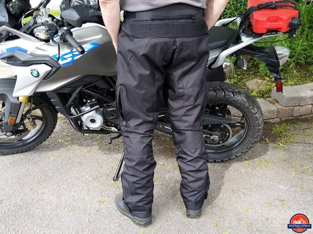 Phantom Textile Adventure Pants 3XL in black, rear view