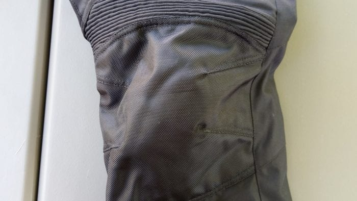 Phantom Textile Adventure Pants, above knee stretch section and accordion material