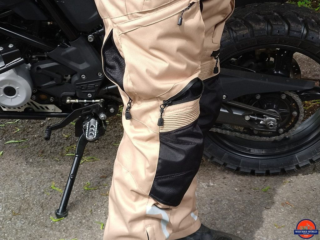 Phantom Textile Adventure Pants above knee and side vents