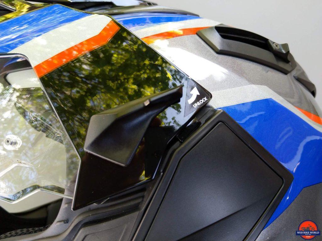 NEXX X.Wed2 X-Patrol Helmet peak side latch unaligned