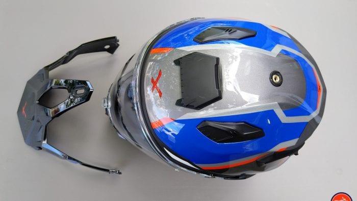 NEXX X.Wed2 X-Patrol Helmet top view with peak removed