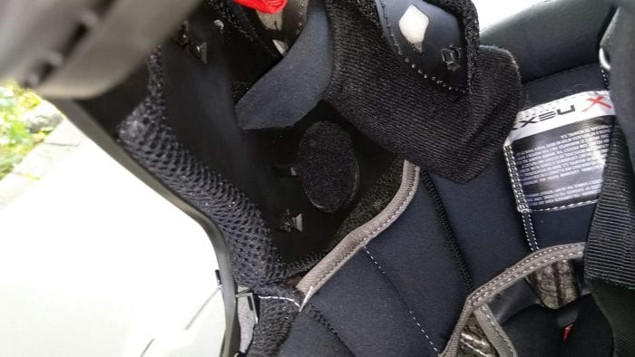 NEXX X.Wed2 X-Patrol Helmet inside speaker mounting point