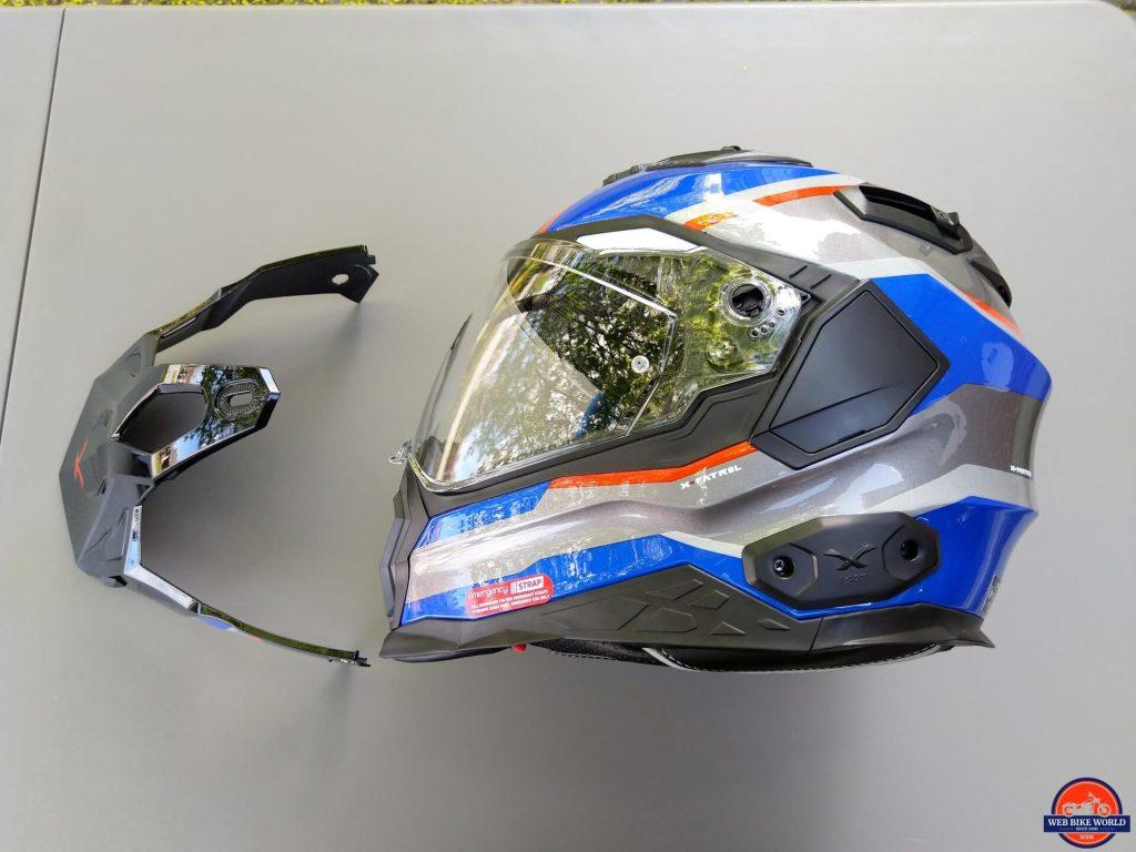 NEXX X.Wed2 X-Patrol Helmet side view with peak removed