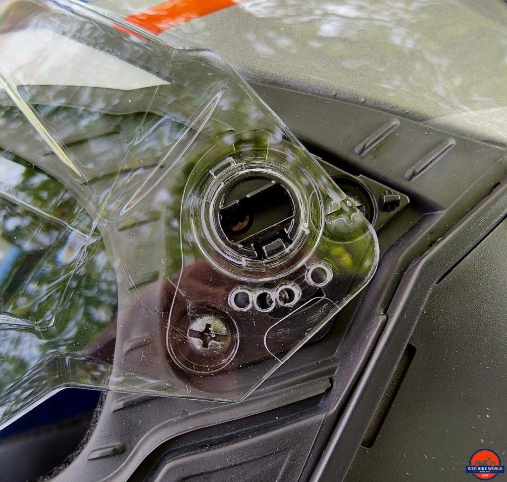 NEXX X.Wed2 X-Patrol Helmet visor mechanism