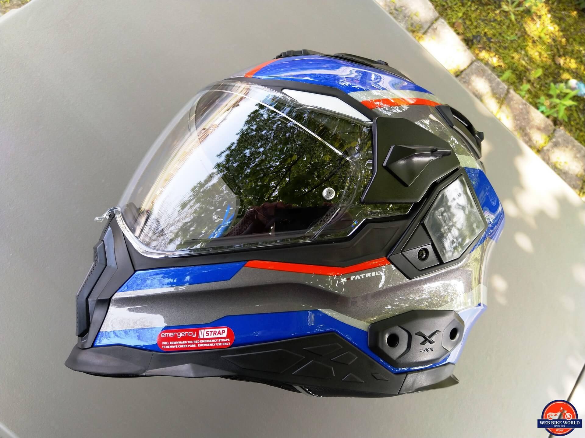 NEXX X.Wed2 X-Patrol Helmet aerodynamic view