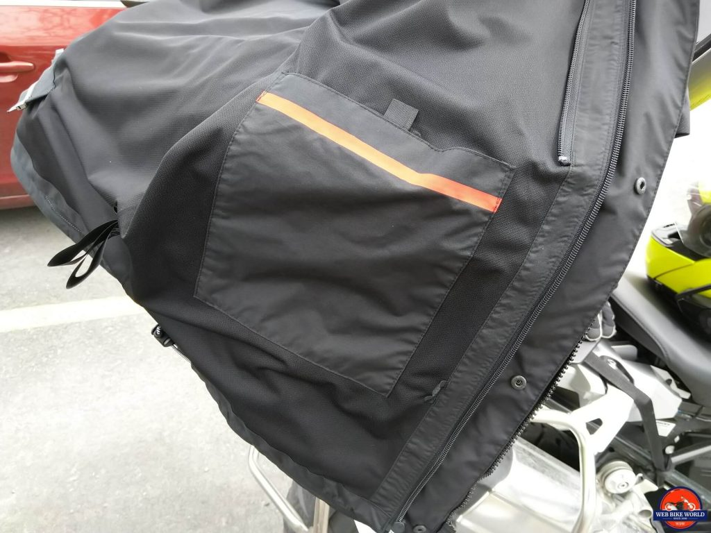 REV'IT! Offtrack Adventure Jacket stash pocket for waterproof liner