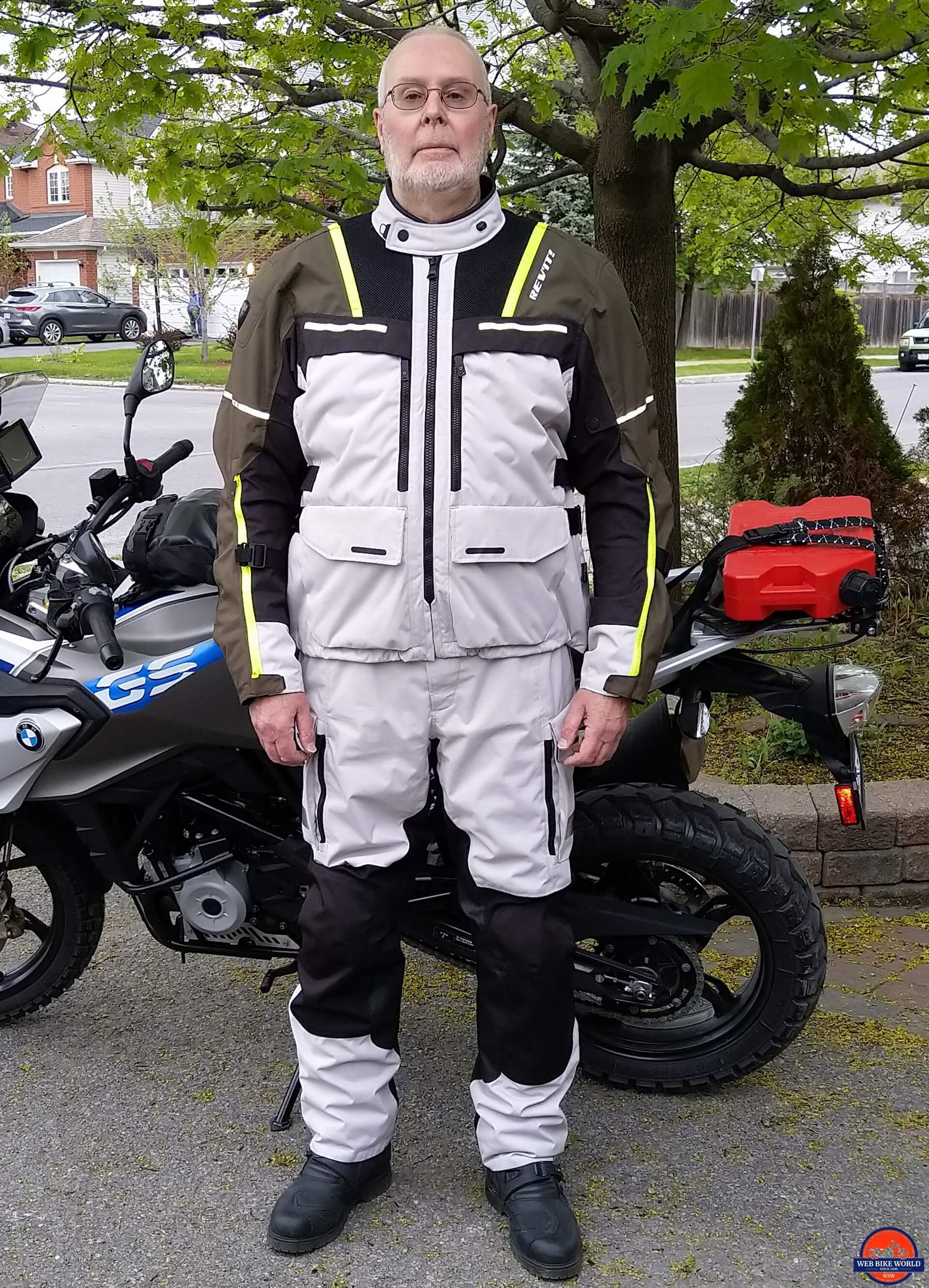 REV'IT! Offtrack Adventure Jacket full view worn by Bruce with Offtrack Pants