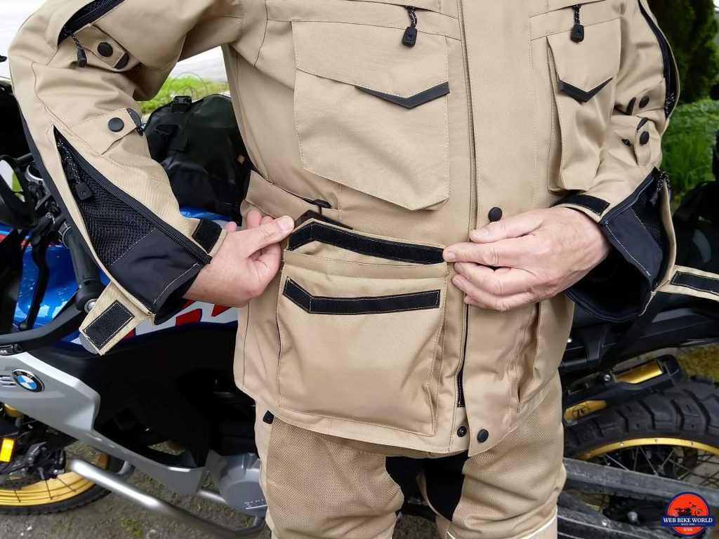 Motonation Pursang Textile Adventure Jacket pocket closures