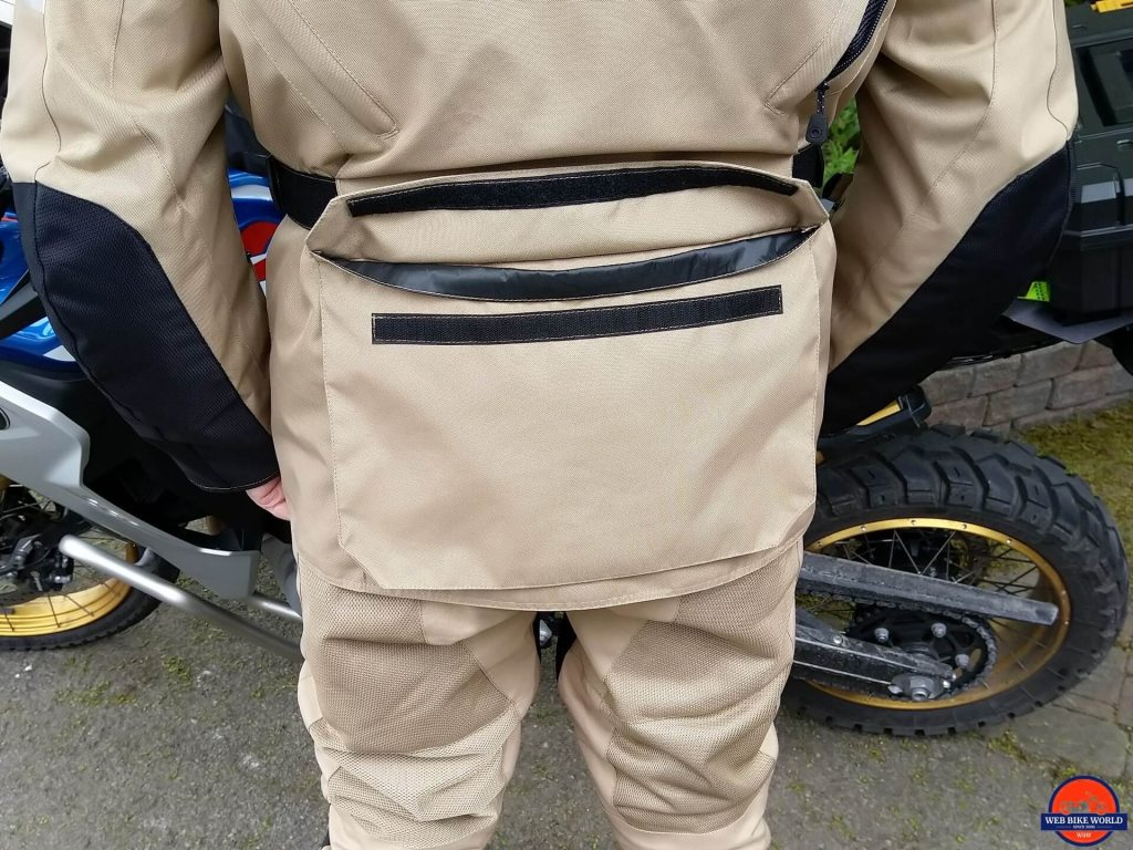 Motonation Pursang Textile Adventure Jacket large back cargo pocket