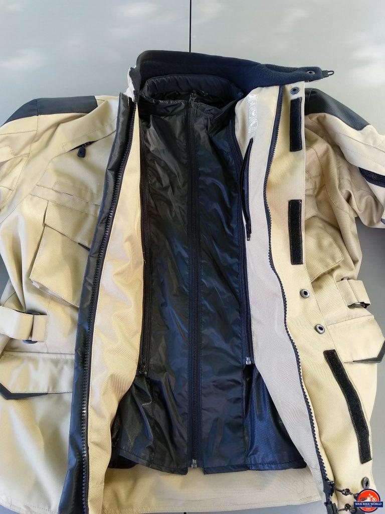 Pursang Jacket with rain liner installed