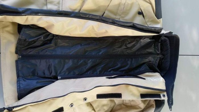 Motonation Pursang Textile Adventure Jacket wind/rain liner installed