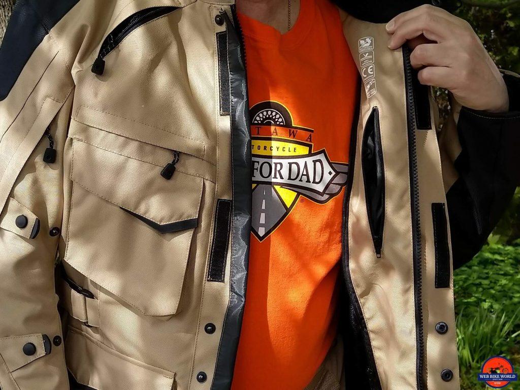 Motonation Pursang Textile Adventure Jacket interior pocket