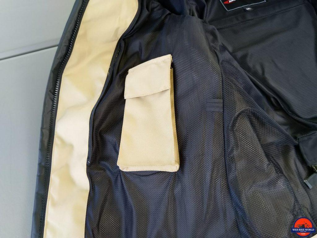 Motonation Pursang Textile Adventure Jacket mobile phone pocket closed