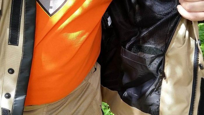Motonation Pursang Textile Adventure Jacket interior wallet pocket