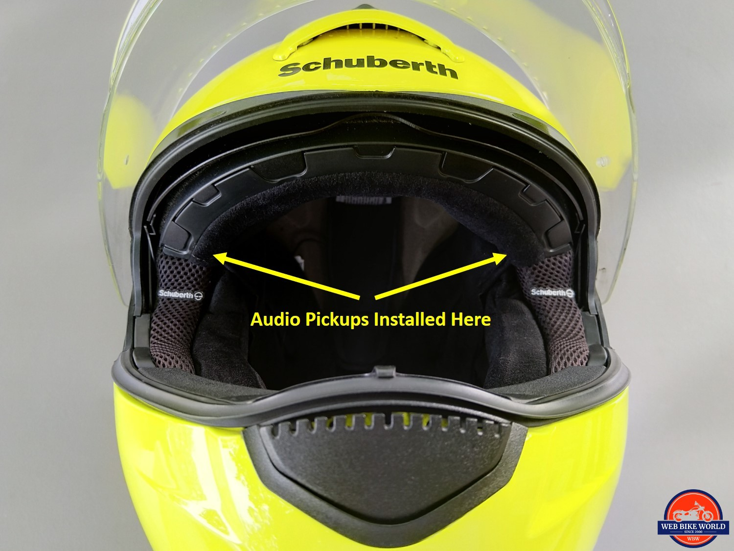 UClear Motion 6 on Schuberth C3 - Audio Pickup Installation Spots