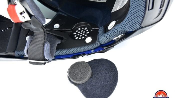 Speaker pockets for the SENA SRL2 in The Shoei GT Air II.