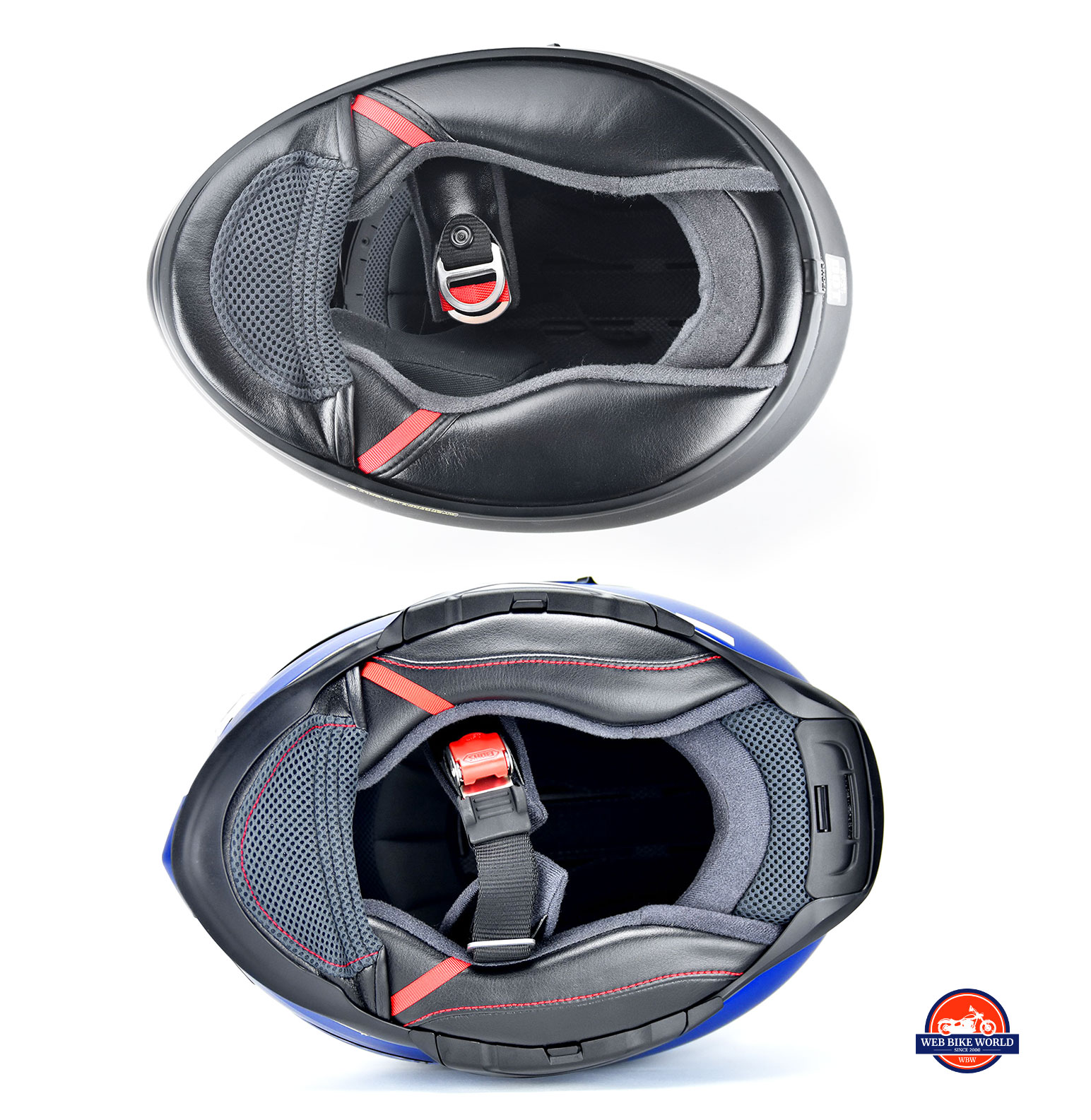 Bottom view of the Shoei GT Air vs the Shoei GT Air II