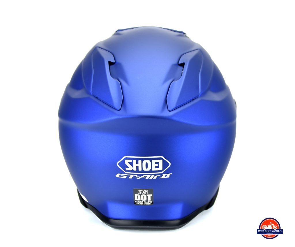 The Shoei GT Air II rear view.