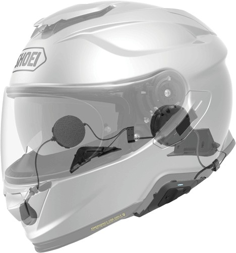 Shoei GT Air 2 with Sena SRL2 system installed.