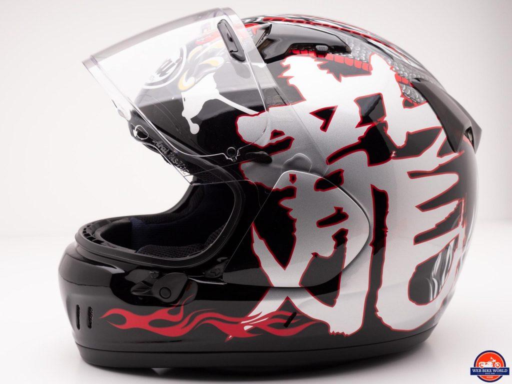 Arai Defiant-X Helmet visor up