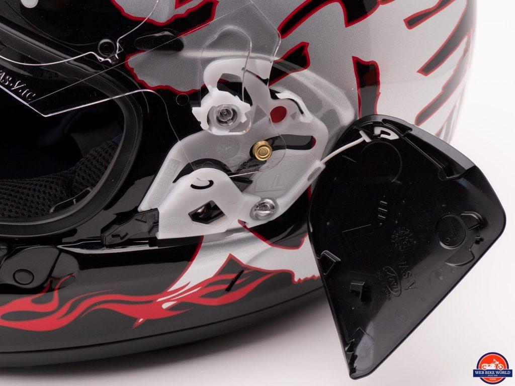 Arai Defiant-X Helmet visor mechanism