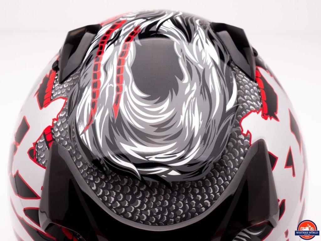 Arai Defiant-X Helmet top vents