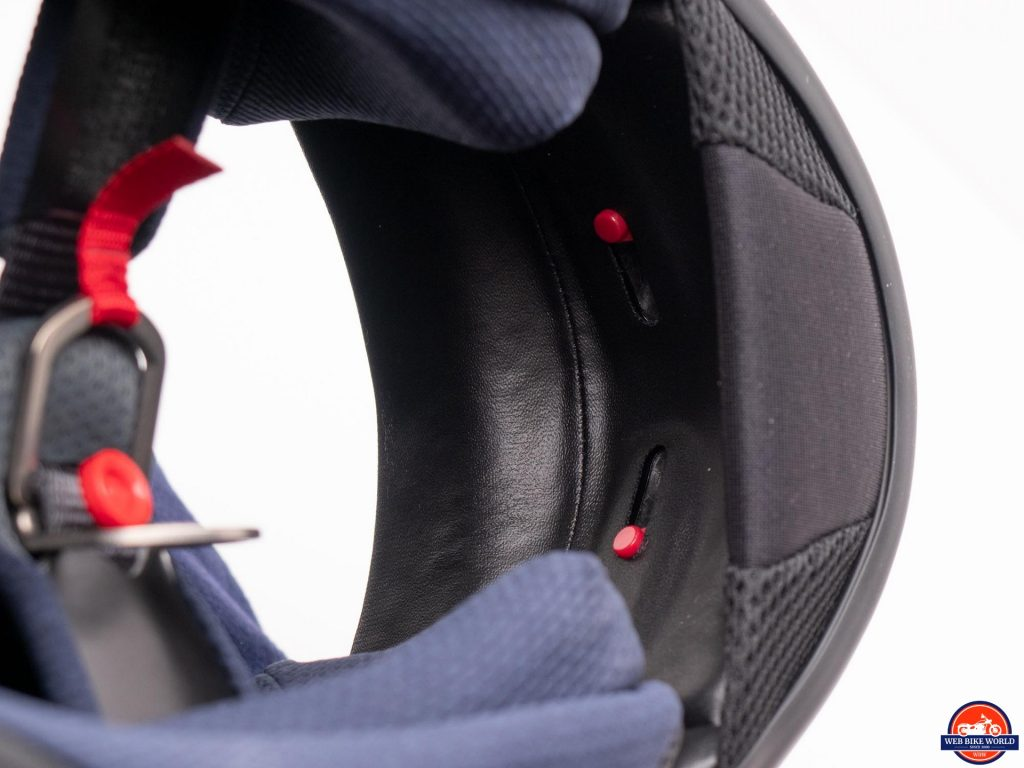 Arai Defiant-X Helmet chin curtain and interior chin vent sliding covers