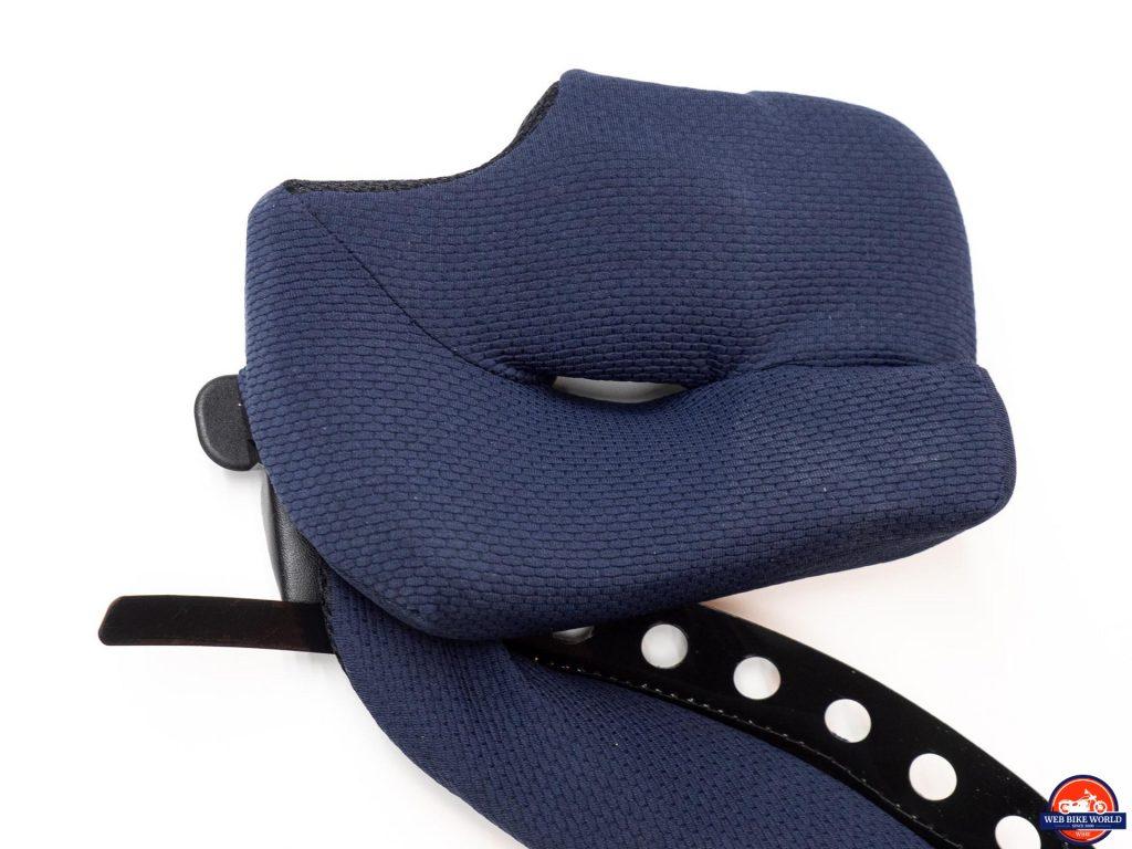 Arai Defiant-X Helmet cheek pad closeup