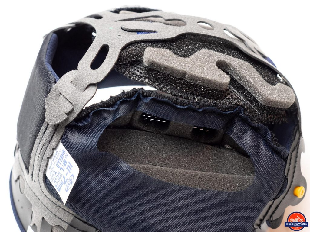Arai Defiant-X Helmet peel-away foam for custom fitting