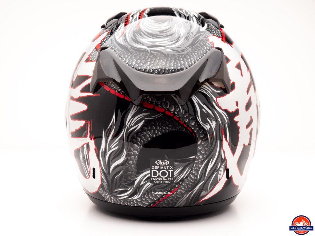 Arai Defiant-X Helmet rear view