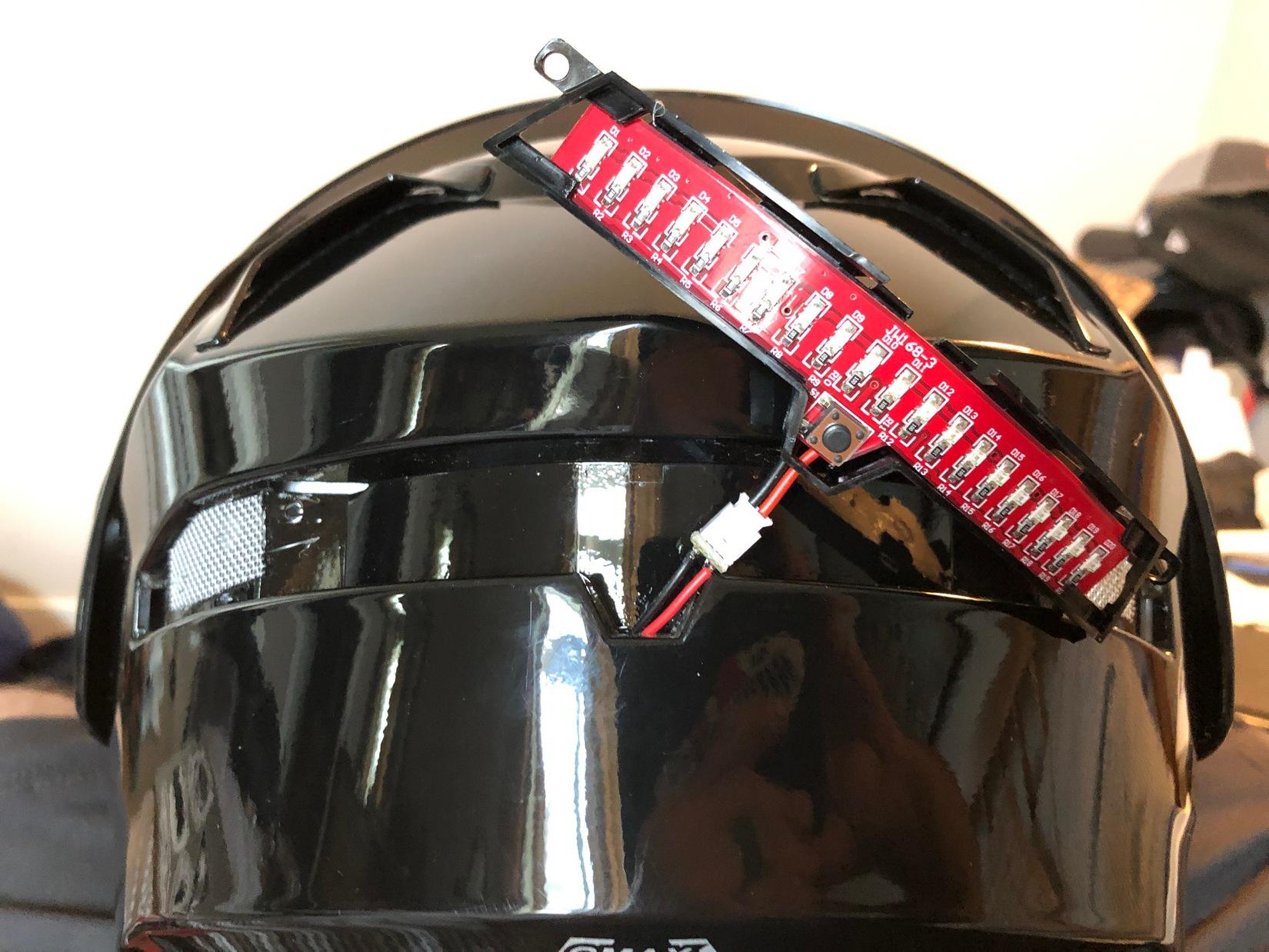 GMax MD01 helmet LED light bar.
