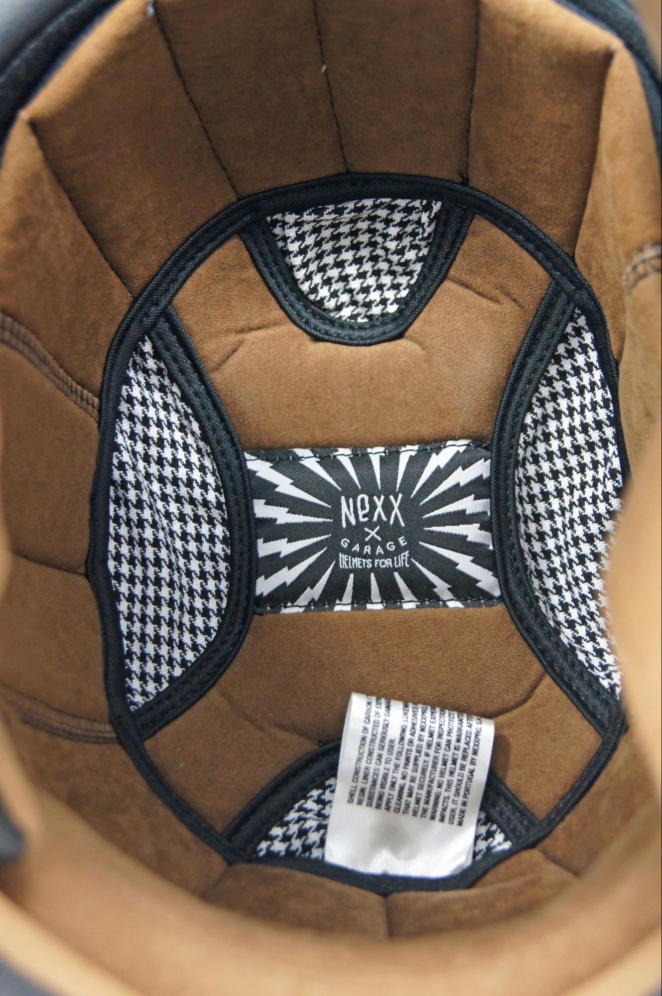 NEXX X.G100 Racer Motordrome Helmet interior closeup
