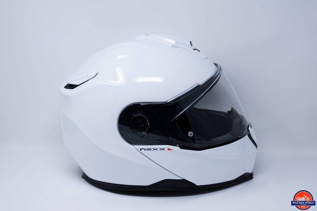 NEXX X.Vilitur in Gloss White - Side Profile