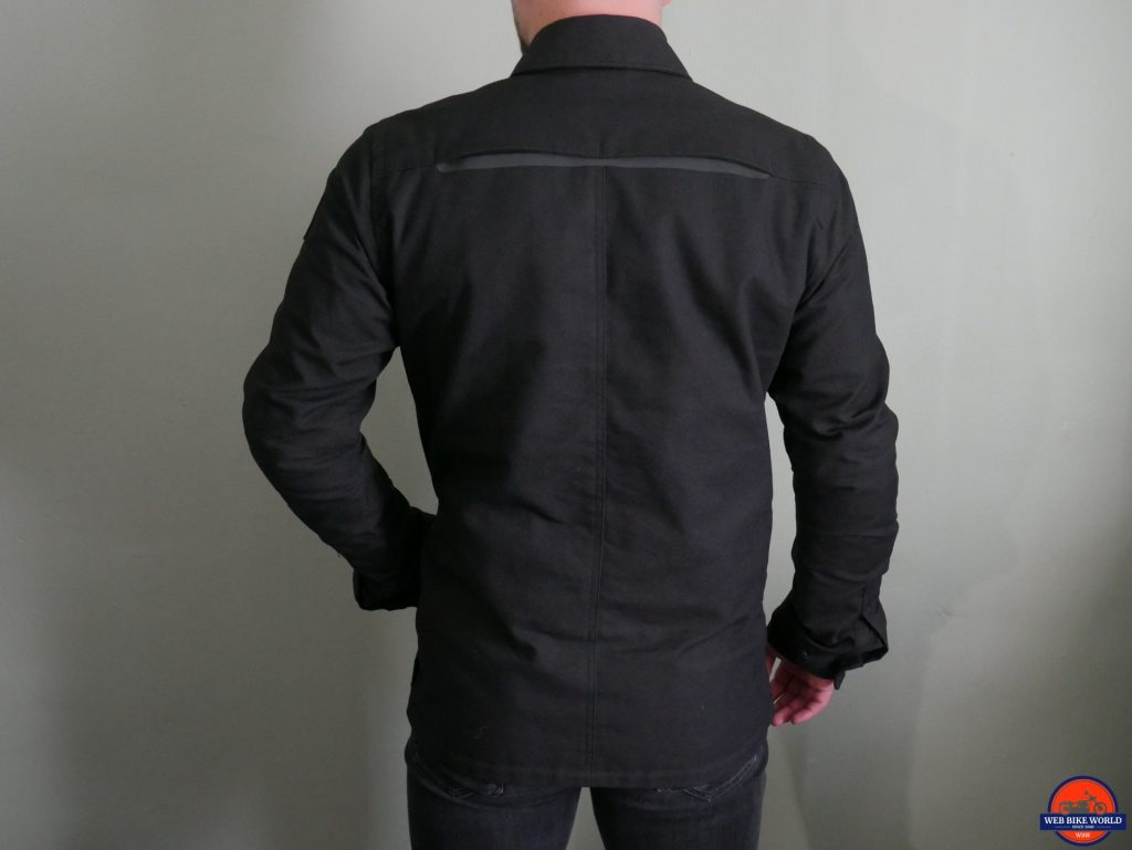 REV'IT! Worker Overshirt rear view, hand in pocket