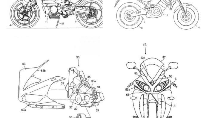 Yamaha electric motorcycle patents