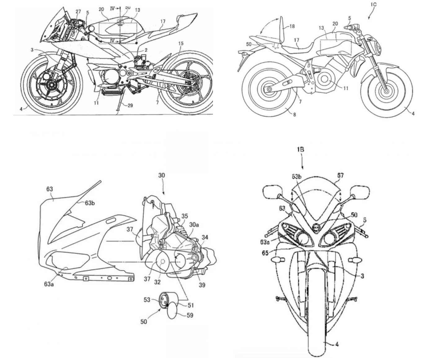 Yamaha electric motorcycle patents