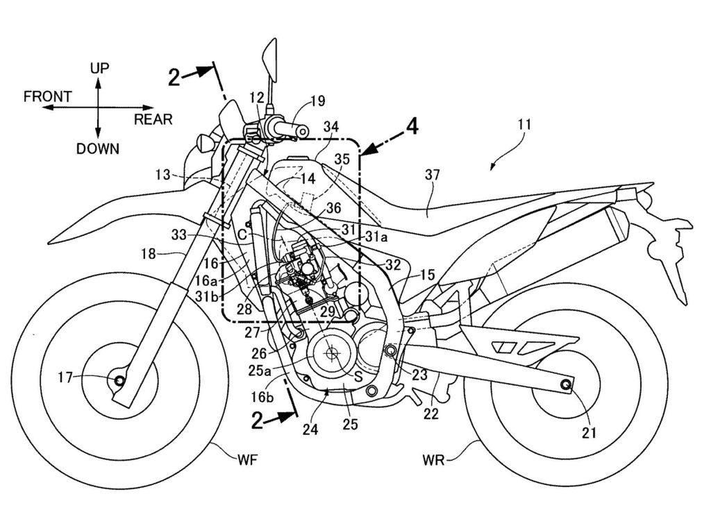 Honda CRF250 patent