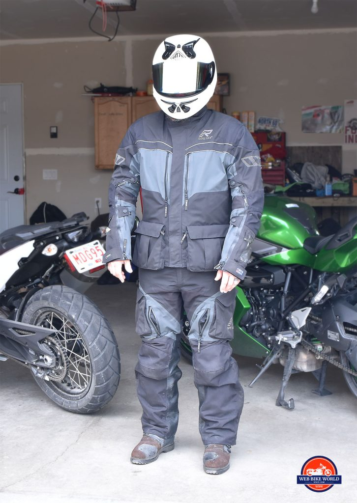 Forcefield Sport Suit X-V being worn under Rukka ROR riding gear.